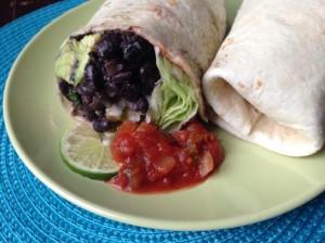 Spicy Black Bean Burrito