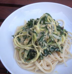 Vegan Pasta With Creamy Greens
