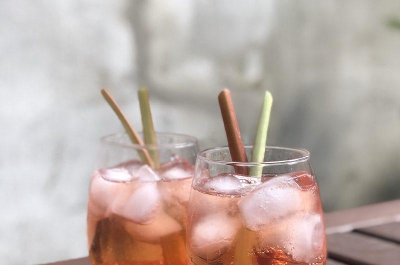 Rhubarb Aperol Spritz