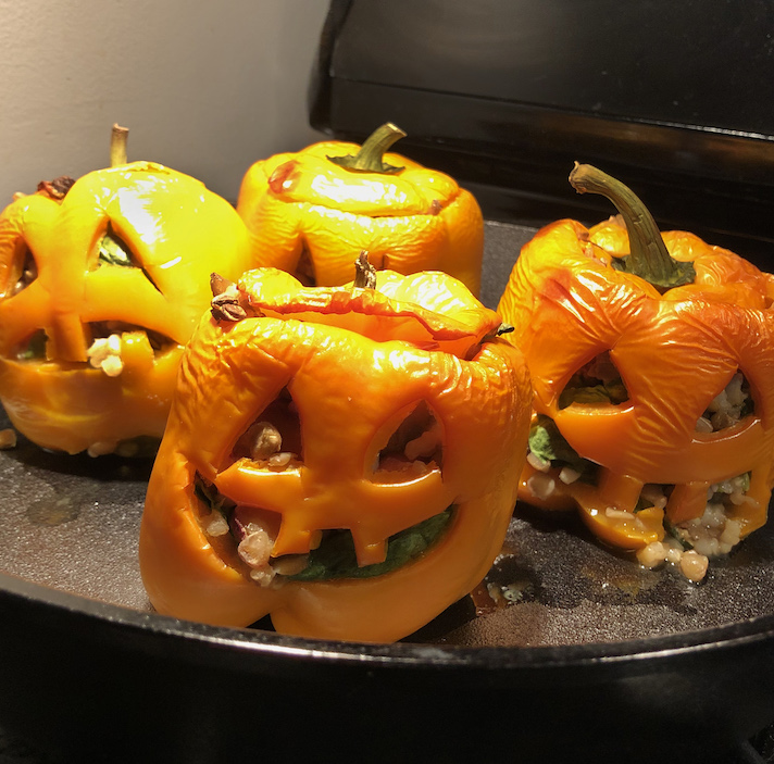 Stuffed Jack o Lantern Peppers