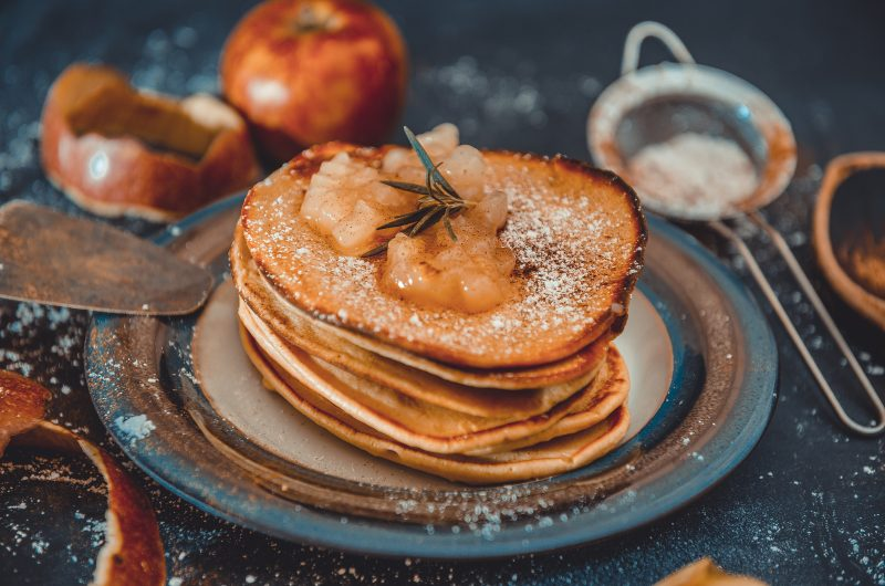 Apple-Oat Pancakes