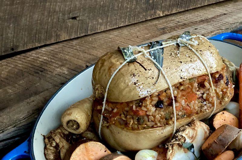 Stuffed Butternut Squash Roast